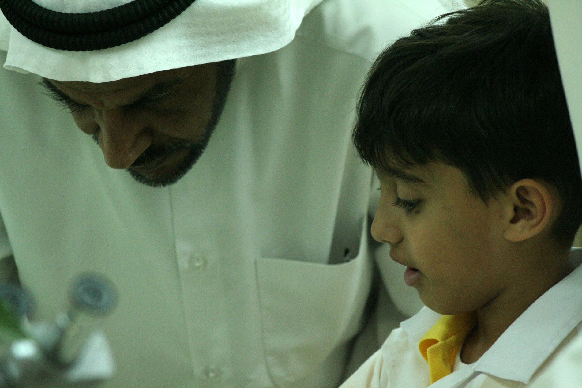 A young Kuwaiti scientist and